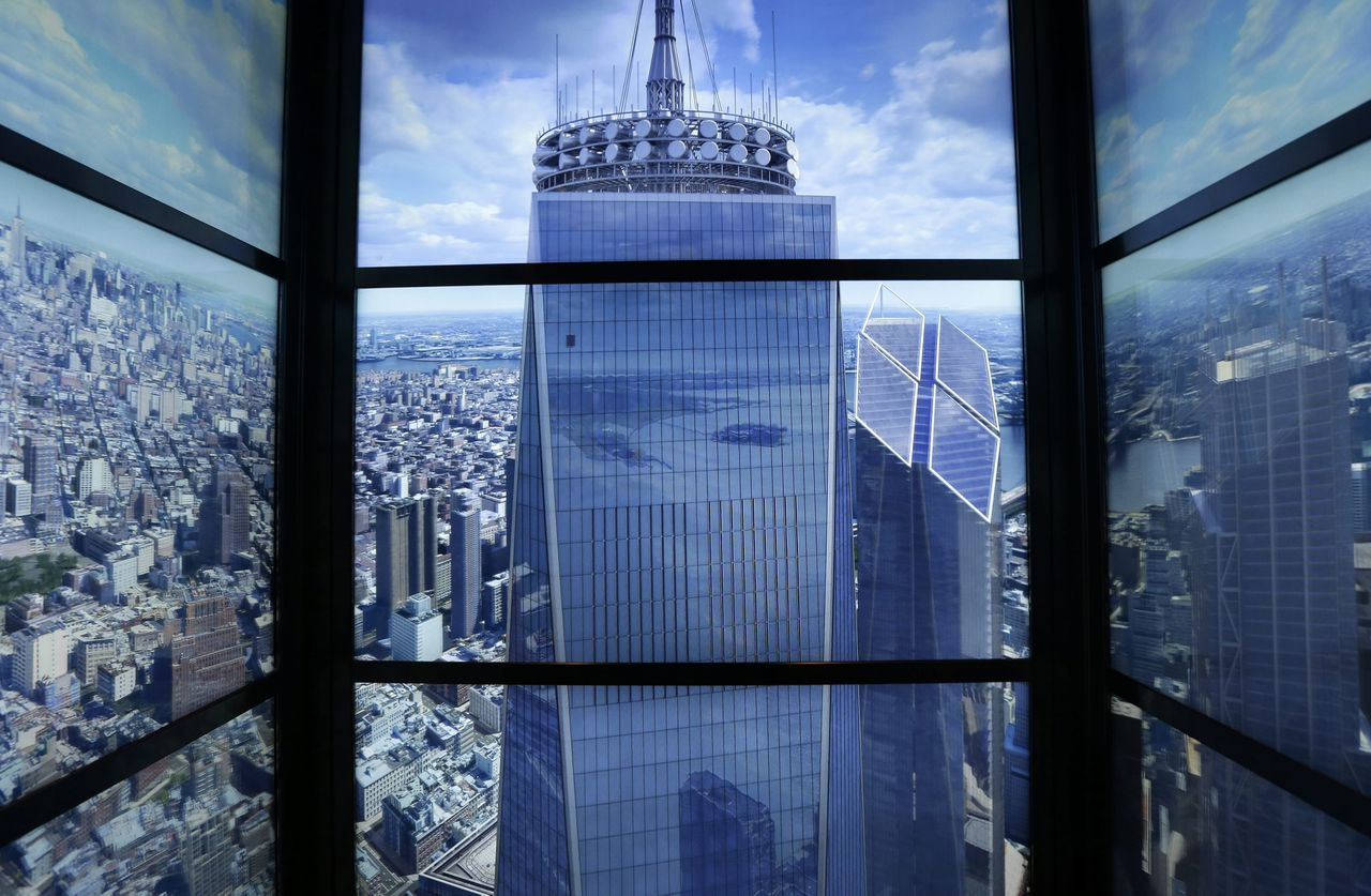Een time-lapse van New York, te zien in de Sky Pod Elevator in de One World Observatory.
