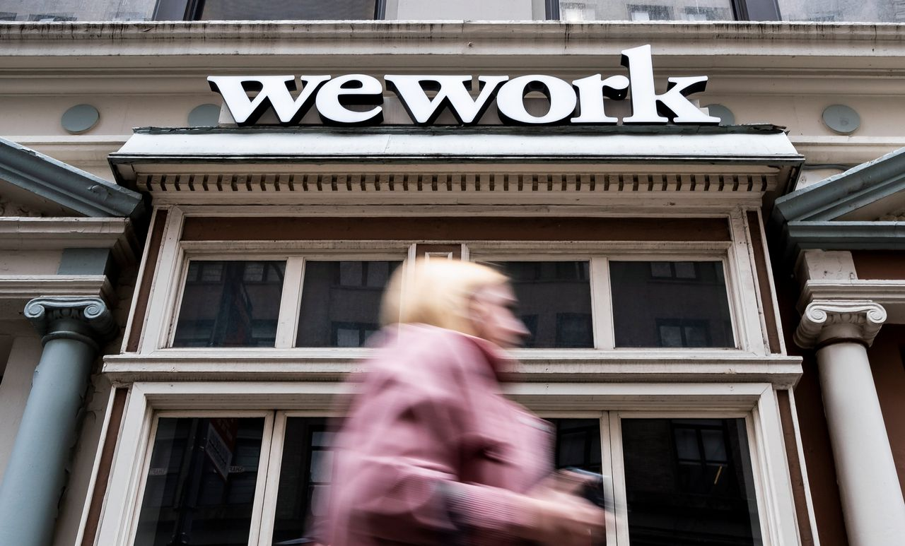 WeWork-kantoor in New York.