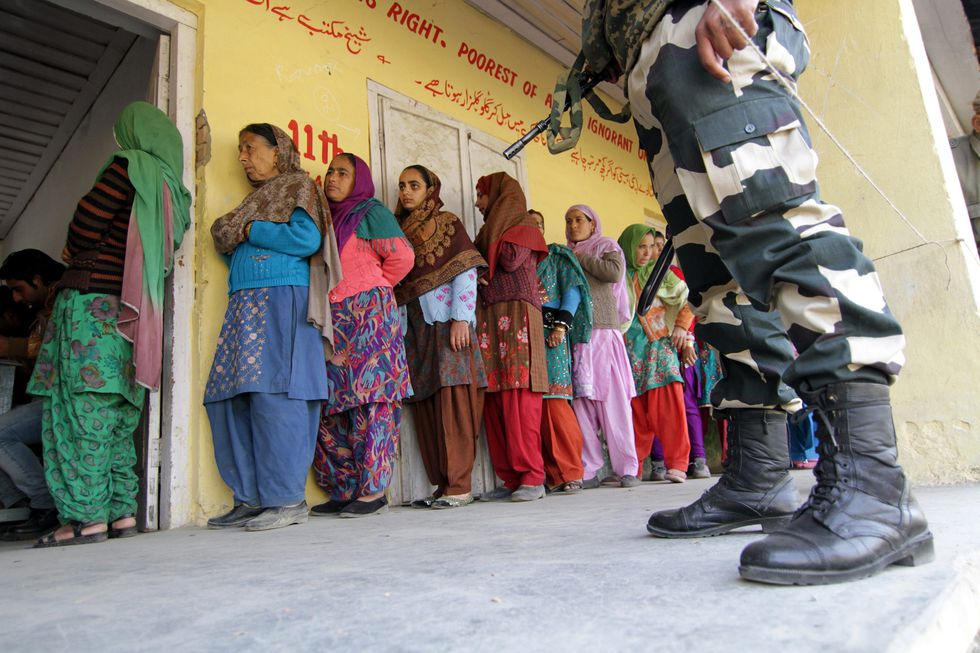 Polling for the first phase of Assembly election in Jammu and Kashmir