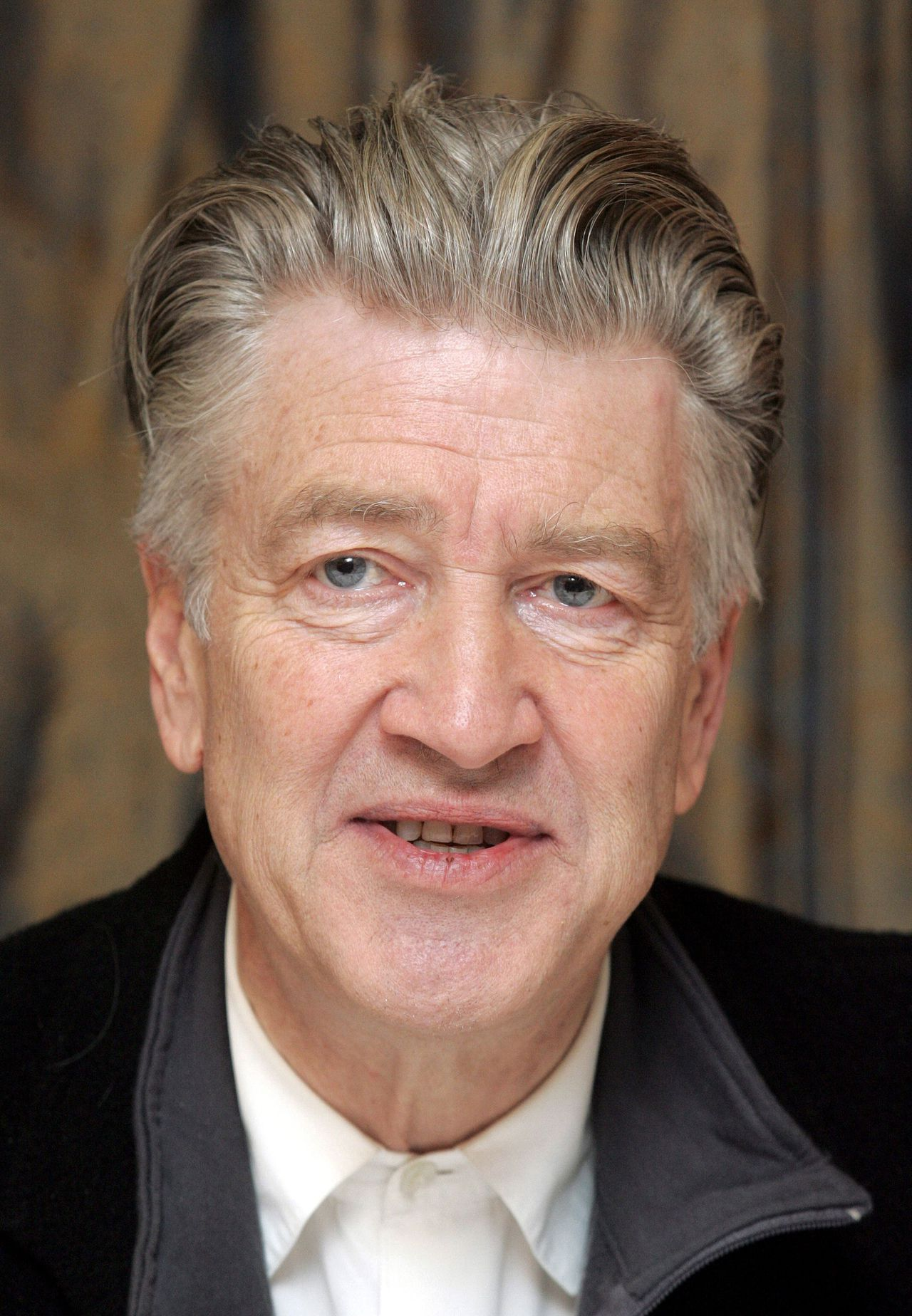 US director David Lynch gives a press conference 28 January 2006 in Berlin. He presented his foundation for Consciousness-Based Education and World Peace as well as a project to found in Germany a Maharishi University for Vedic Sciences. AFP PHOTO DDP/MARCUS BRANDT GERMANY OUT