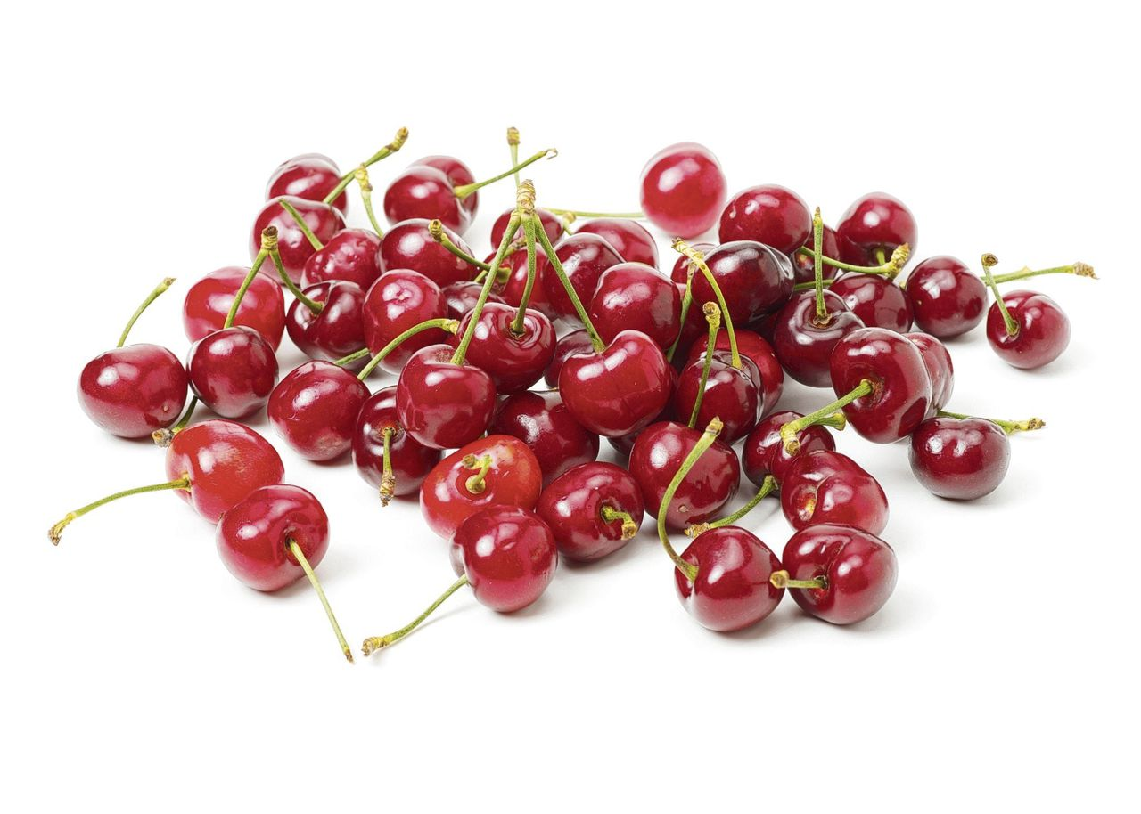 Sweet cherry isolated on the white background