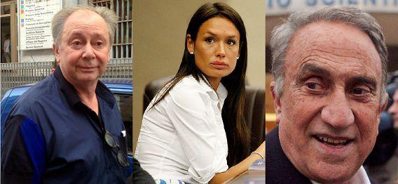 Lele Mora (links) zocht de meisjes, Emilio Fede (rechts) moest ze beoordelen op schoonheid en bereidwilligheid tot seks en Berlusconi's voormalige mondhygiëniste Nicole Minetti (midden) regelde huisvesting en vervoer.