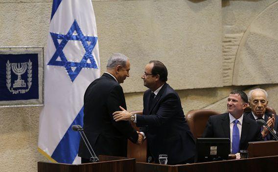 Hollande en Netanyahu.