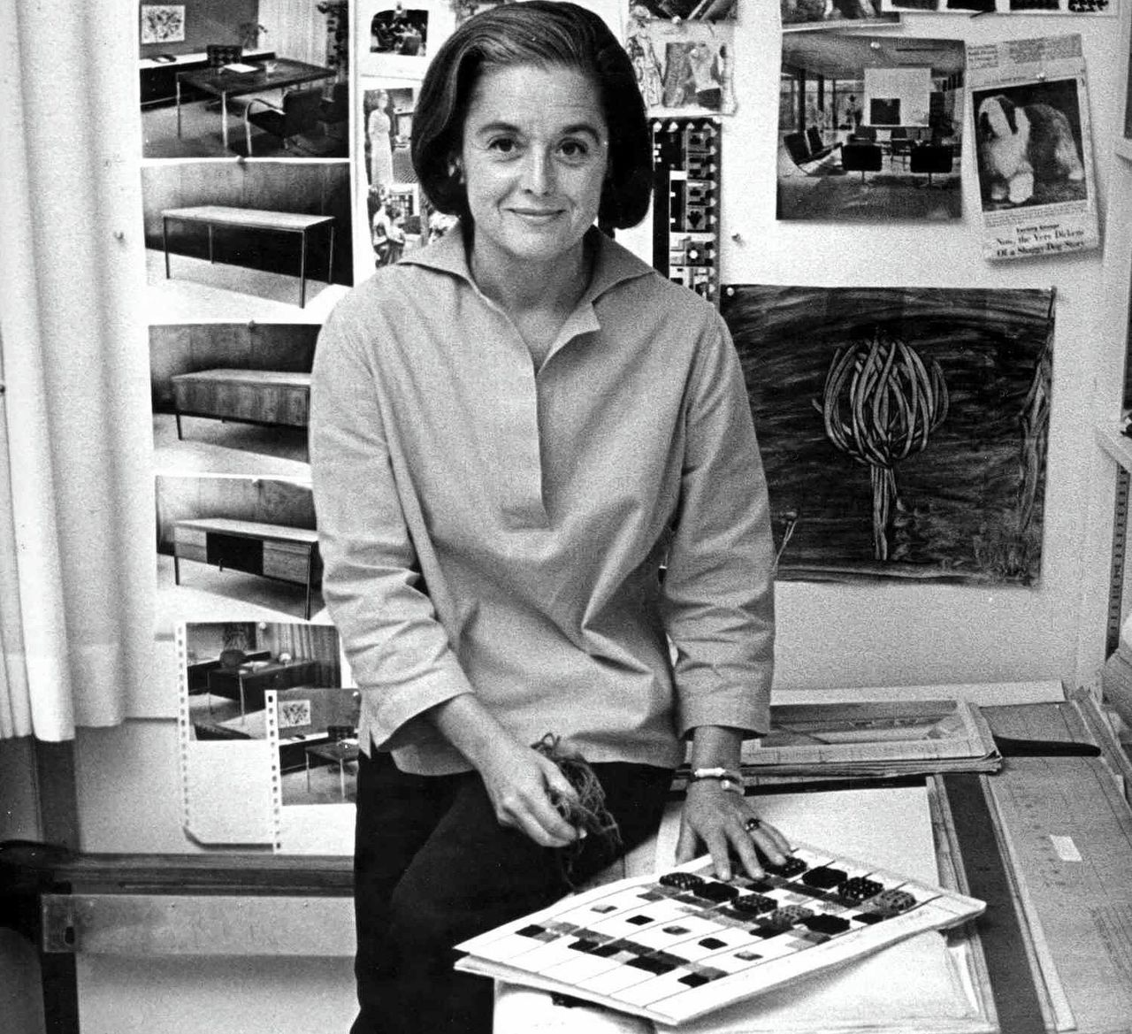 Florence Knoll in 1961.Foto Ray Fisher
