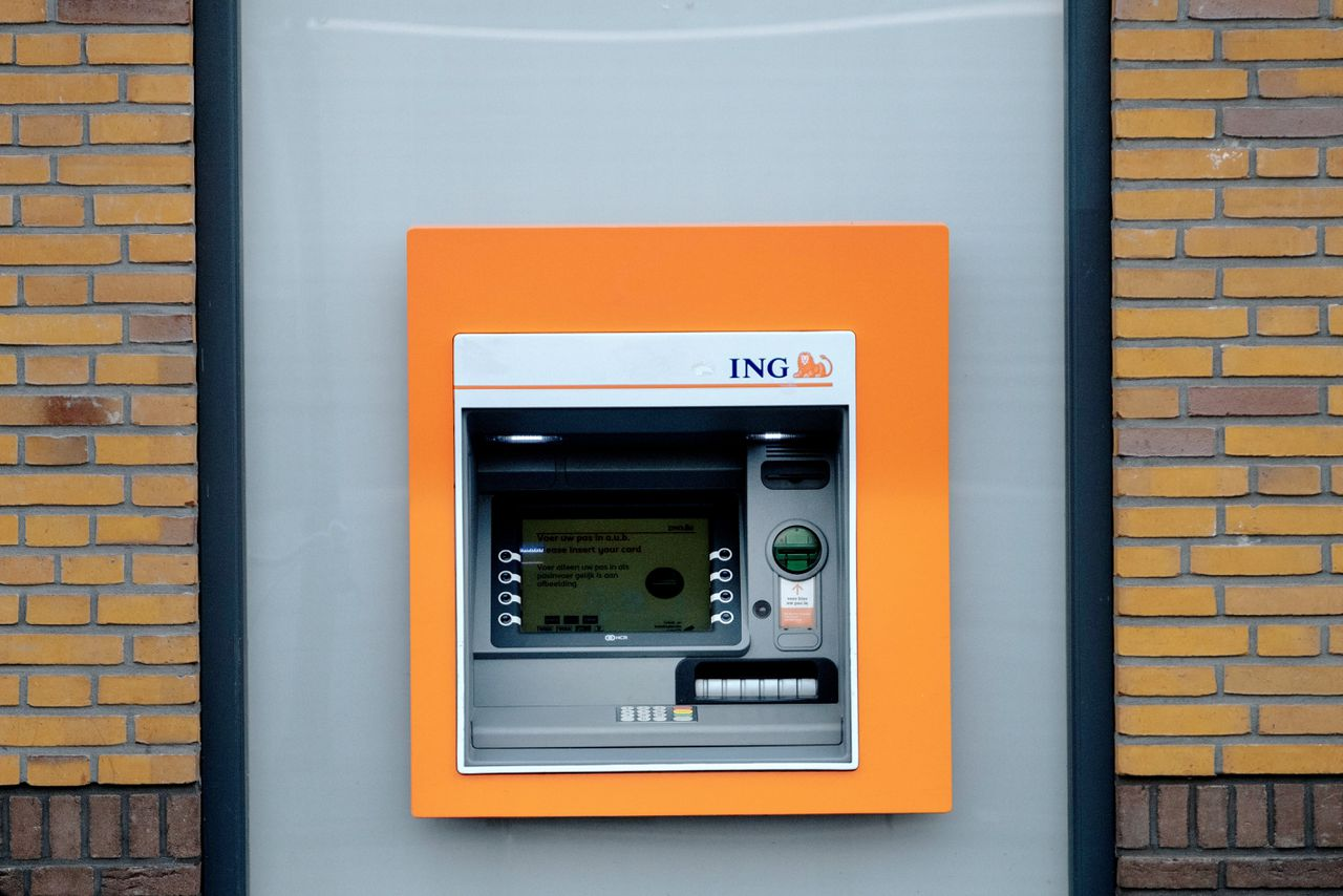 ING bank automaat in Vught.