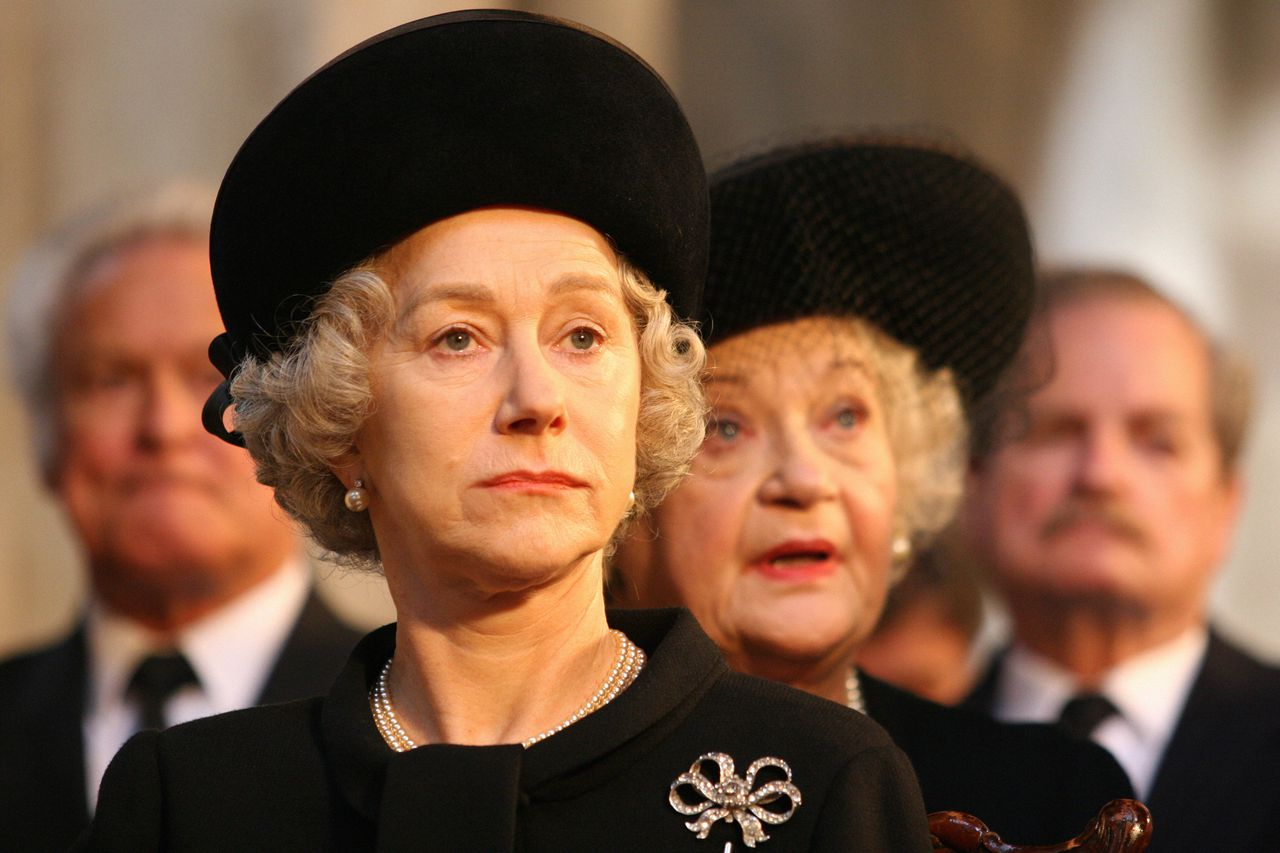 """**FILE**In this photo provided by Miramax Films, Dame Helen Mirren as Queen Elizabeth II in """"The Queen."""" The film and Mirren received Academy Award nominations Tuesday, Jan. 23, 2007. Mirren appeared to be an early front runner to win the best actress Oscar. (AP Photo/Miramax Films,Laurie Sparham)"""