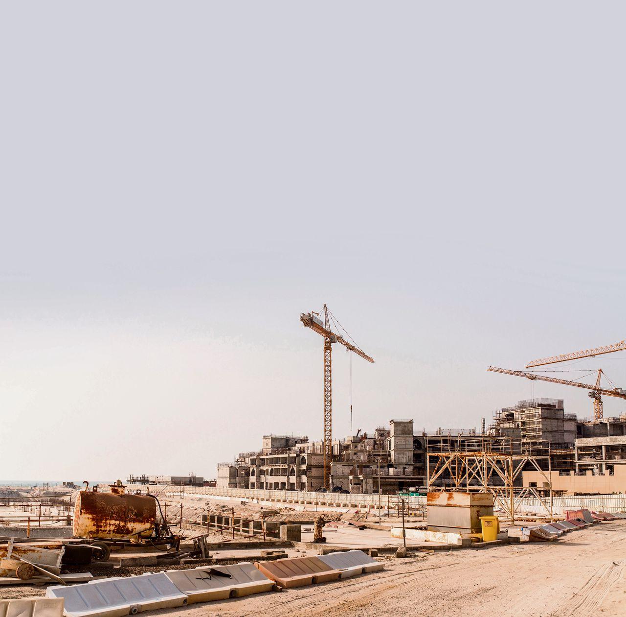 Een bouwplaats in Abu Dhabi