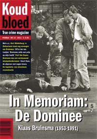 Cover van het tijdschrift Koud Bloed 13. In Memoriam: De Dominee. Klaas Bruinsma (1953-1991)
