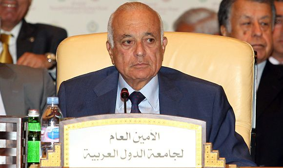Caption: Nabil el-Arabi, Secretary General of the Arab League during the opening of the Arab League Monitoring Committee to put the finishing touches on the Palestinian bid for UN membership Tuesday,in Doha, on Tuesday Aug 23, 2011.(AP Photo/Osama Faisal)
