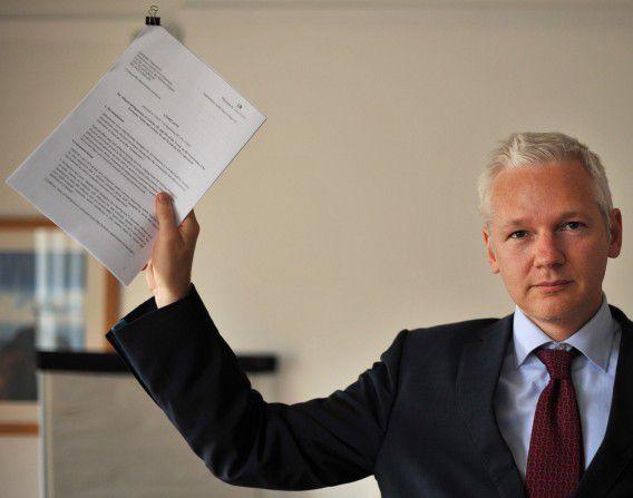 WikiLeaks-oprichter Julian Assange op archiefbeeld.