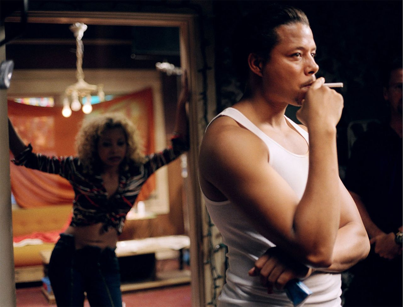 Paula Jai Parker as Lexus (in shadow) and Terrence Howard as DJay in a scene from HUSTLE & FLOW, written and directed by Craig Brewer. Photo Credit: Alan Spearman / Crunk Pictures