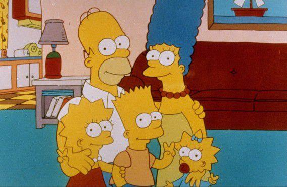 Lisa en Homer Simpson met hun kroost.