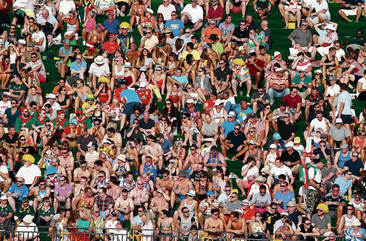 Rugbysupporters uit Wales eerder deze maand tijdens een interlandwedstrijd in Dubai waarin hun nationale ploeg tegen de Fiji speelde.