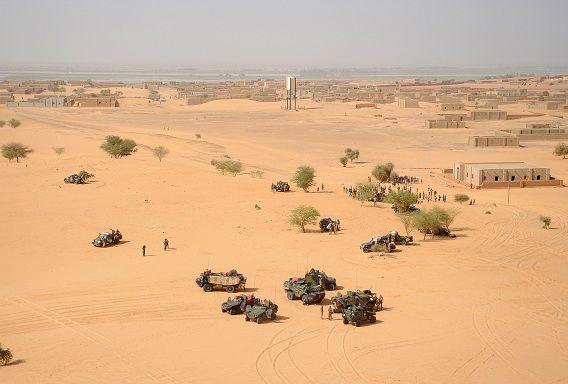 Franse soldaten in februari in Noord-Mali.