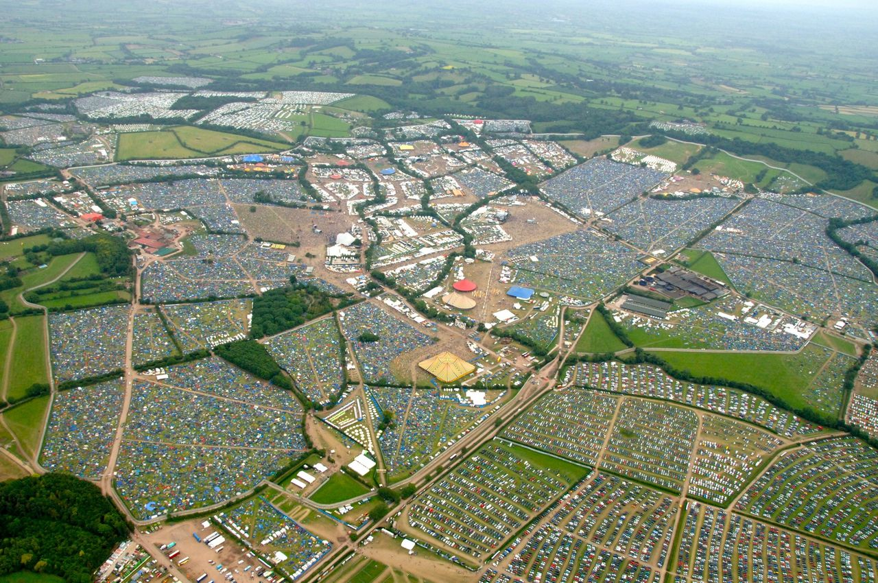 A&M Gen Pictures Shows: Ariel View of Glastonbury Festival Original Archive info: 2009