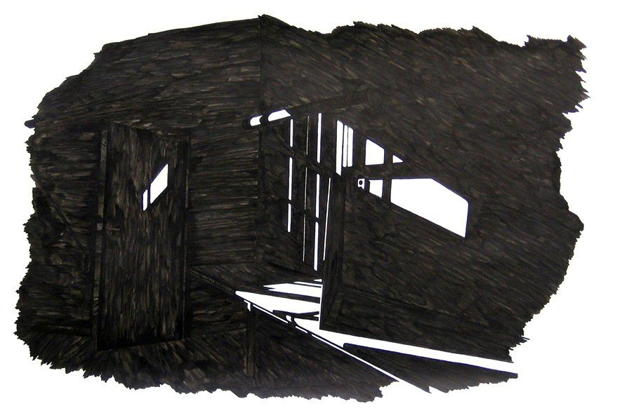 'And we watched the world go by' 2006, inkt op papier