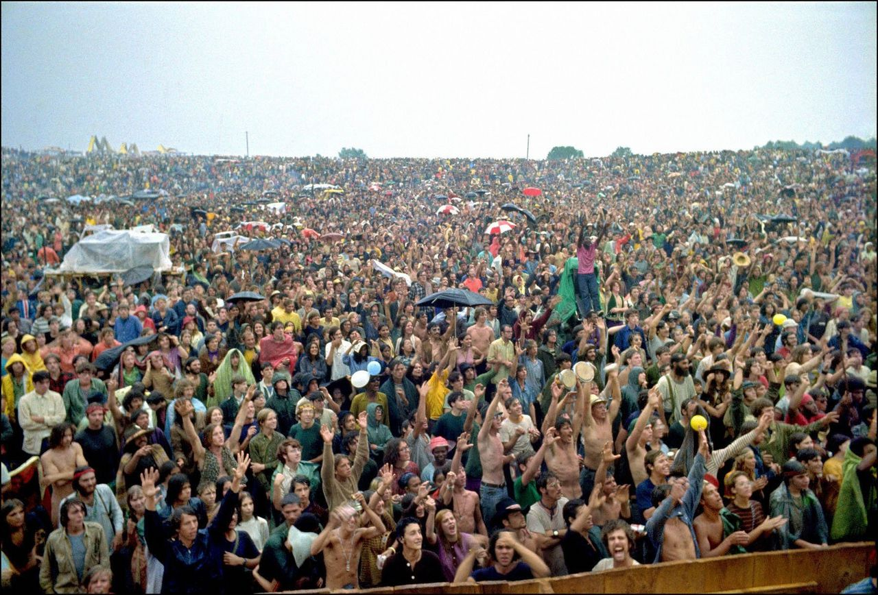 Woodstock in Bethel, New York, in augustus 1969.