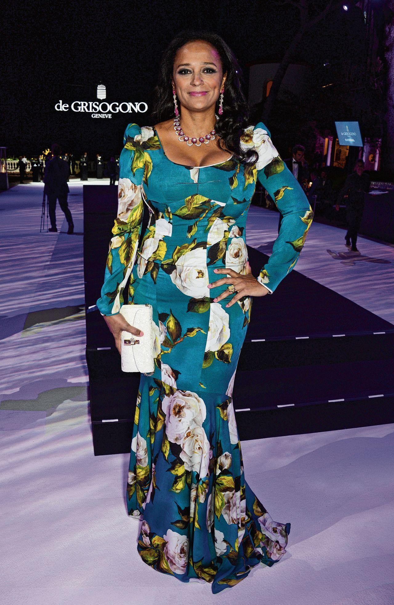 Isabel dos Santos, vermoedelijk de rijkste vrouw van Afrika, in Cannes, 2016.