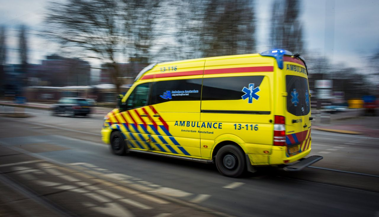Ambulancevervoer in Amsterdam.