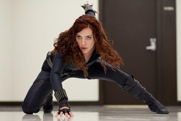"""scene uit de film Iron Man 2 (2010) Scarlett Johansson stars as Black Widow in """"Iron Man 2."""""""