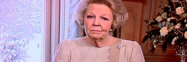 Koningin Beatrix tijdens haar kerstrede van 2010 (Beeld NOS)