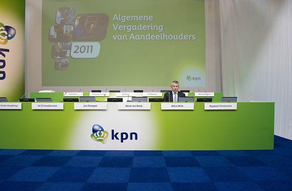 Den Haag : 6 april 2011 KPN aandeelhoudersvergadering, de vandaag nieuw aangetreden CEO van KPN Eelco Blok. foto © Roel Rozenburg