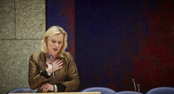 Minister van Onderwijs, Cultuur en Wetenschap Jet Bussemaker in de Tweede Kamer.