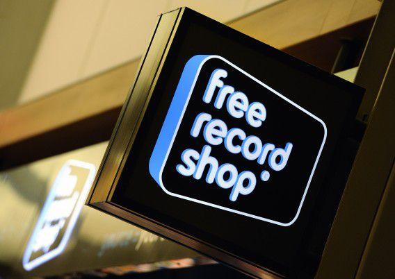 Filiaal van de Free Record Shop in winkelcentrum Alexandrium in Rotterdam.