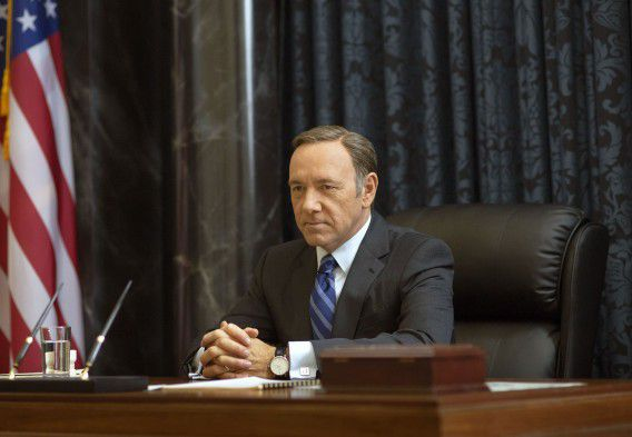 Kevin Spacey als Francis Underwood in House of Cards.