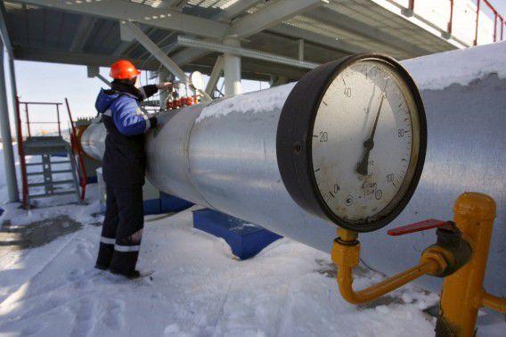 Gasinstallatie vlakbij de grens met Oekraïne.