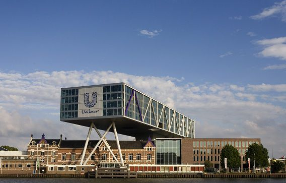 Vestiging Unilever Nederland in Rotterdam.