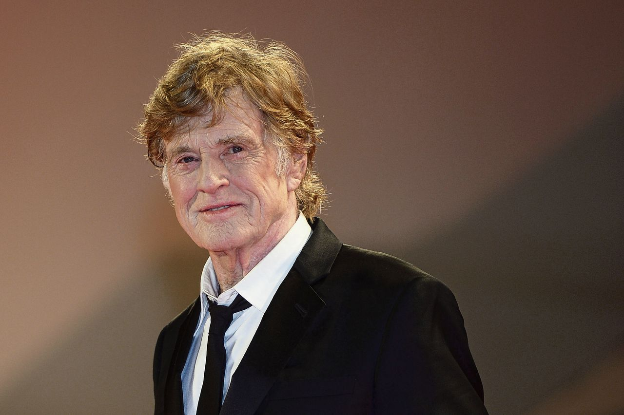 Robert Redford op het filmfestival van Venetië in 2017 bij de première van 'Our Souls at Night'.