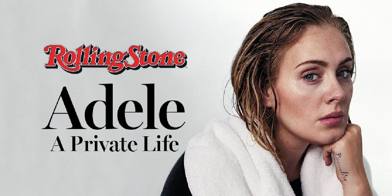 Zangeres Adele, in november op de cover van Rolling Stone. Zonder make-up.
