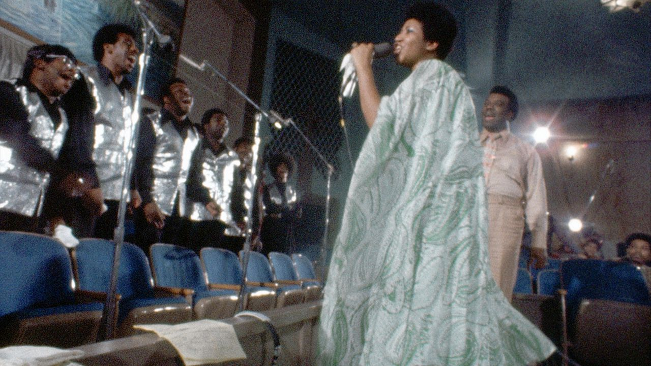 Aretha Franklin in 'Amazing Grace'.