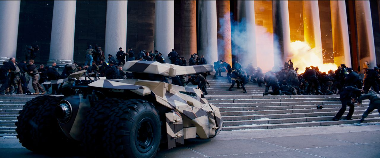 """A scene from Warner Bros. Pictures' and Legendary Pictures' action thriller """"THE DARK KNIGHT RISES,"""" a Warner Bros. Pictures release. TM & © DC Comics."""