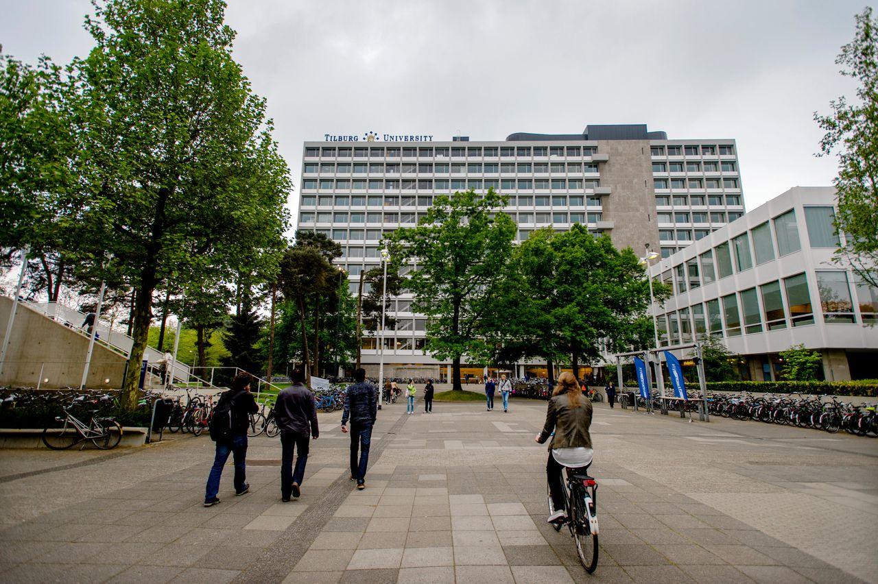 Een gebouw van de Tilburg University.