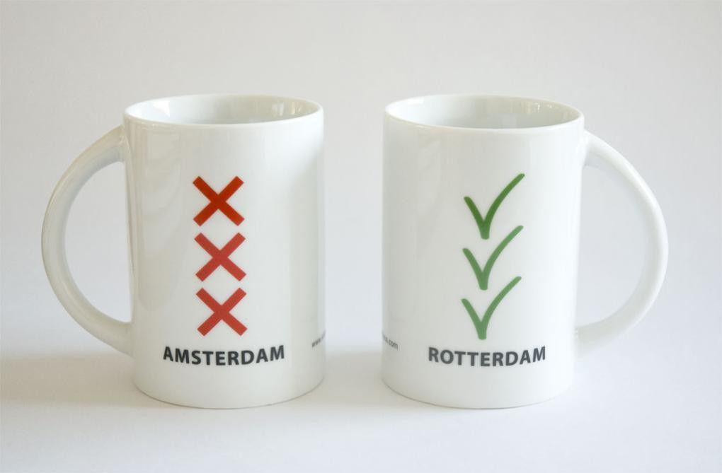 Amsterdam-Rotterdambeker, ontworpen door Mariëlle H. van Dijk (www.klikkesbaus.com)