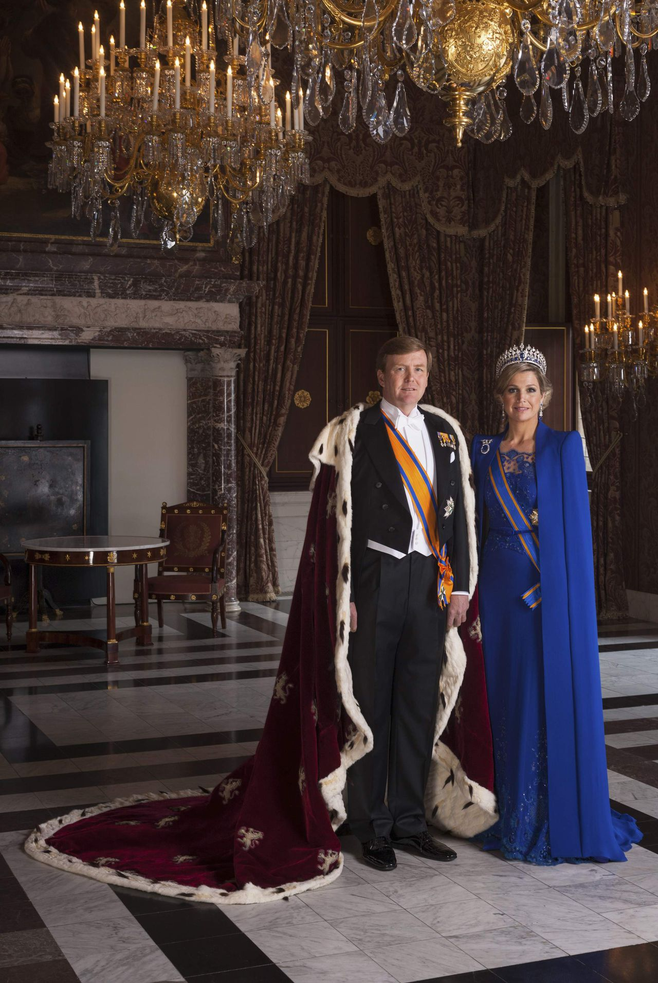 King Willem-Alexander (L) of the Netherlands and Queen Maxima are seen in this official portrait in Amsterdam in this handout picture provided by RVD Koos Breukel May 6, 2013. Queen Beatrix of the Netherlands abdicated on April 30, handing over to her eldest son, Willem-Alexander, who became the first King of the Netherlands in over 120 years. RVD Koos Breukel/Handout via Reuters (NETHERLANDS - Tags: POLITICS ENTERTAINMENT ROYALS) ATTENTION EDITORS - NO SALES. NO ARCHIVES. FOR EDITORIAL USE ONLY. NOT FOR SALE FOR MARKETING OR ADVERTISING CAMPAIGNS. THIS IMAGE HAS BEEN SUPPLIED BY A THIRD PARTY. IT IS DISTRIBUTED, EXACTLY AS RECEIVED BY REUTERS, AS A SERVICE TO CLIENTS