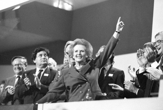 Margaret Thatcher in 1989.