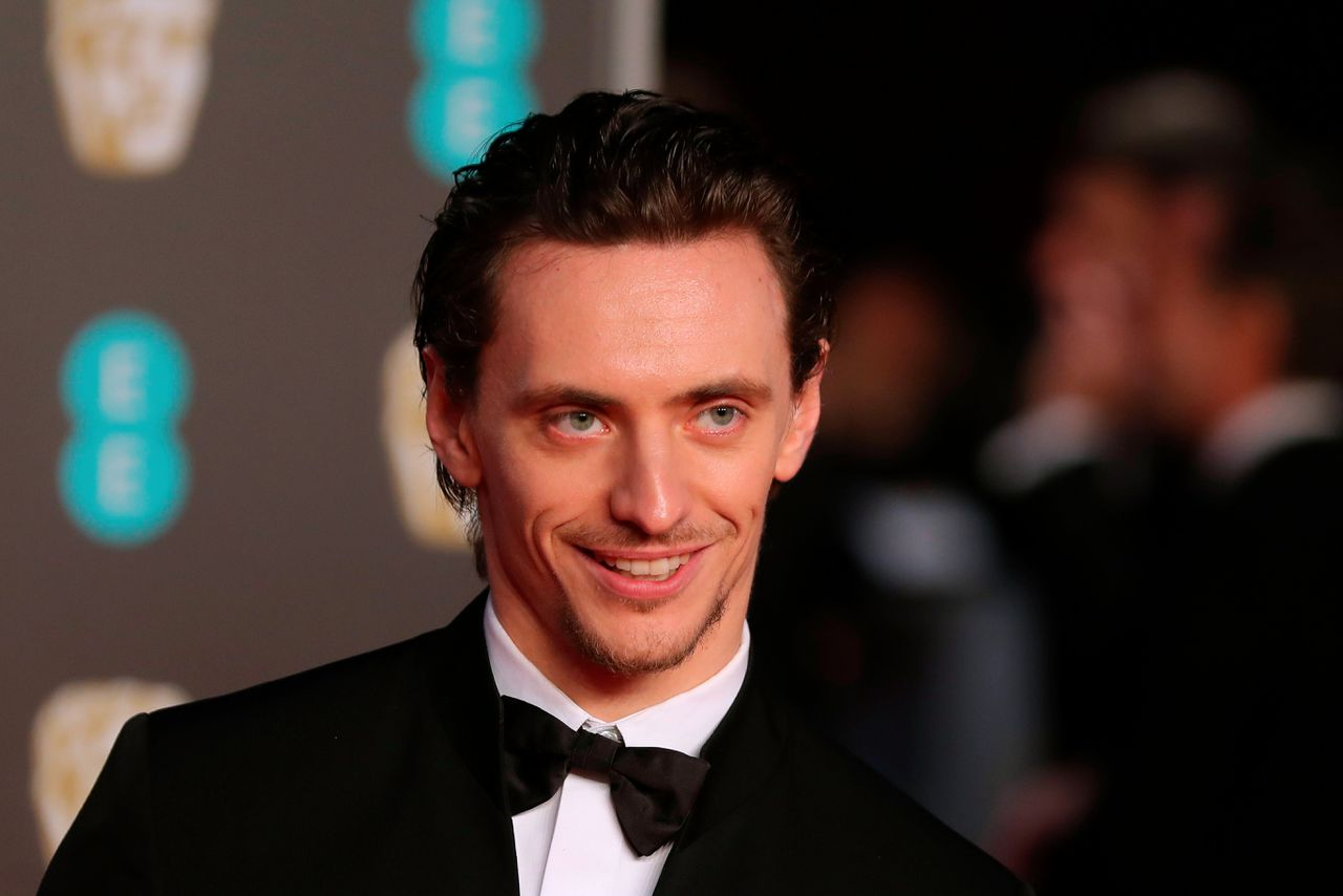 De Oekraïense balletdanser Sergei Polunin bij de uitreiking van de BAFTA Awards in de Royal Albert Hall in London.