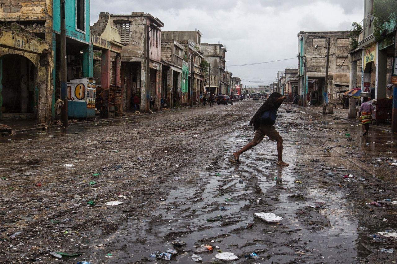 Verwoesting in Port au Prince.
