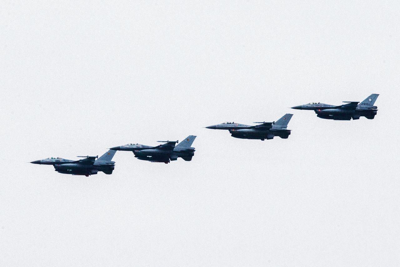 Archiefbeeld van F-16's bij luchtmachtbasis Leeuwarden.