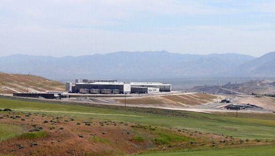 Een nieuw datacentrum van de NSA, dat binnenkort opent.