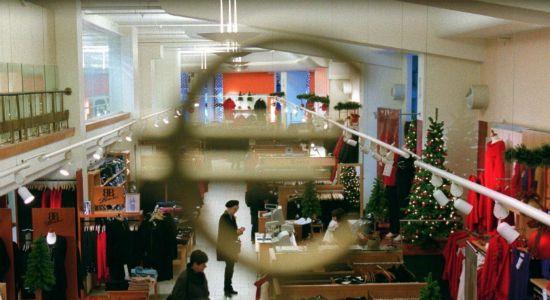 Een winkelcentrum in Finland.
