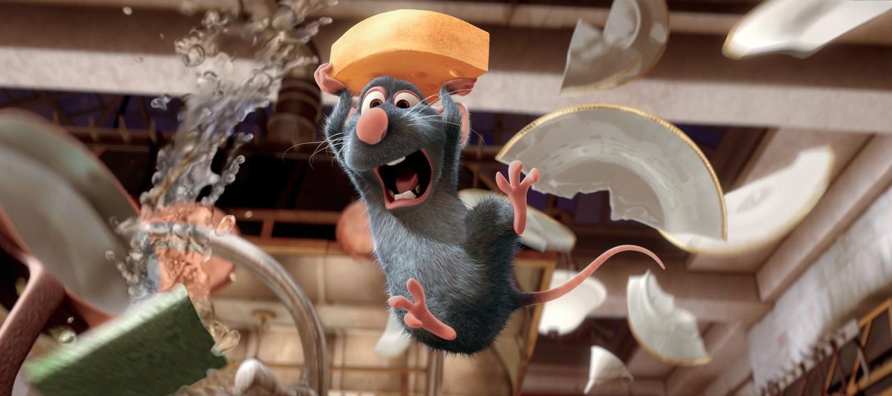 "Rémy en z'n soortgenoten koken in Ratatouille de sterren bij elkaar. In the new animated-adventure, RATATOUILLE, a rat named Remy (pictured) dreams of becoming a great French chef. RATATOUILLE is directed by Academy Award®-winning Brad Bird (""The Incredibles"") and co-directed by Academy Award®-winning Jan Pinkava (""Geri's Game"")."