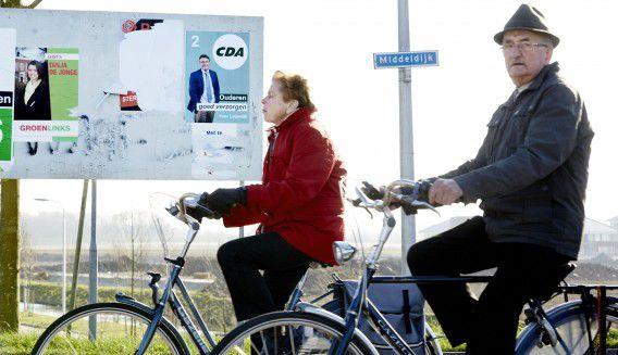 Verkiezingsposters in Barendrecht.