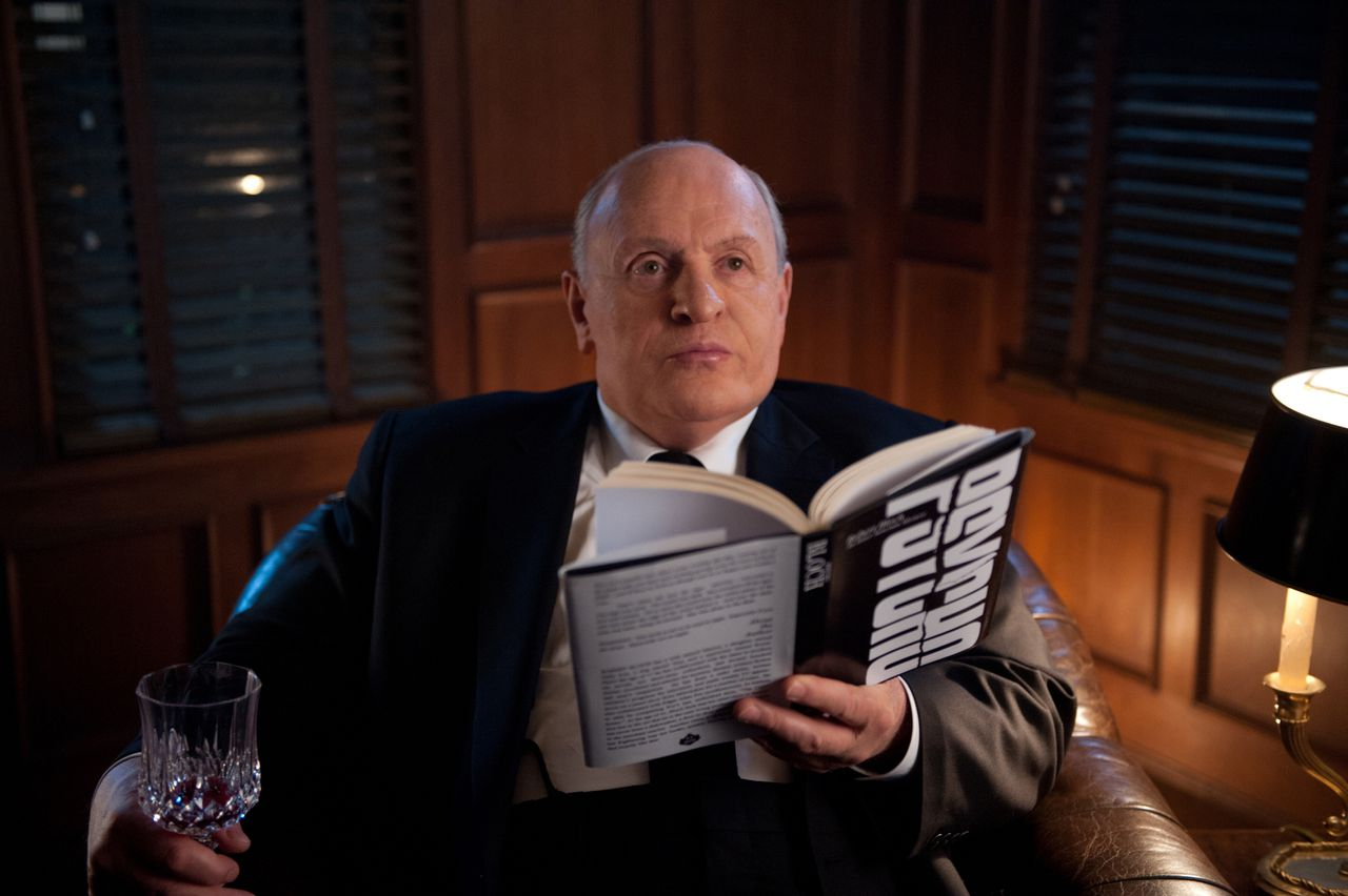 """FILE - This publicity film image released by Fox Searchlight shows Anthony Hopkins as Alfred Hitchcock in """"Hitchcock."""" The film is nominated for an Academy Award in the Makeup and Hairstyling category. The 85th Academy Awards air live on ABC on Sunday, Feb. 24, 2013. (AP Photo/Fox Searchlight, Suzanne Tenner, File)"""