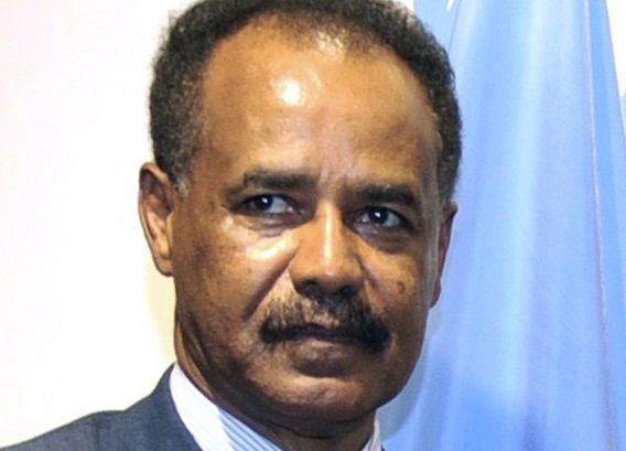 Isaias Afwerki, president van Eritrea.