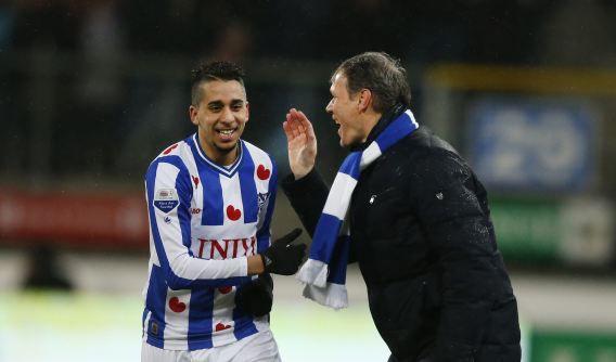 Heerenveen. Eredivisie speelronde 26, sc Heerenveen - PSV. ANP CATRINUS VAN DER VEEN.