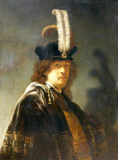 Het nu aan Rembrandt toegeschreven zelfportret, gedateerd 1635.